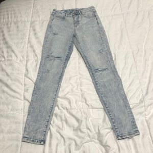 American Eagle curvy high rise jegging acid wash
